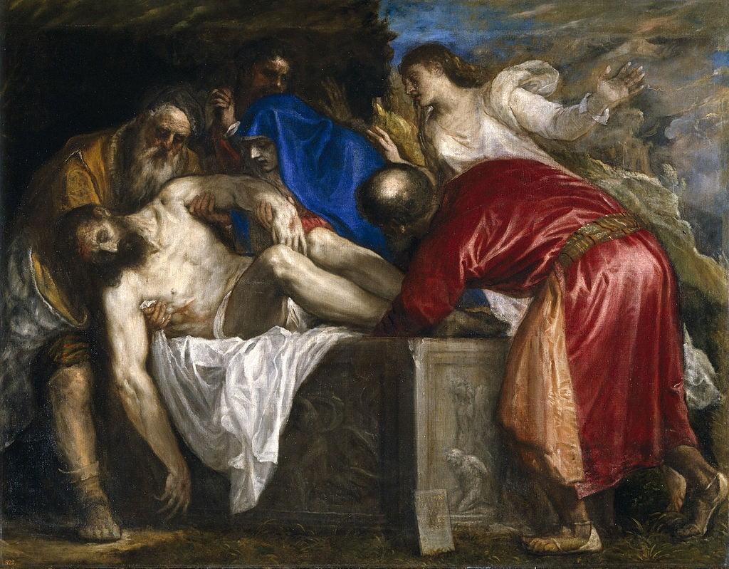 Entierro de Cristo - Óleo sobre lienzo, 137 x 175 cm, Museo del Prado (Madrid).