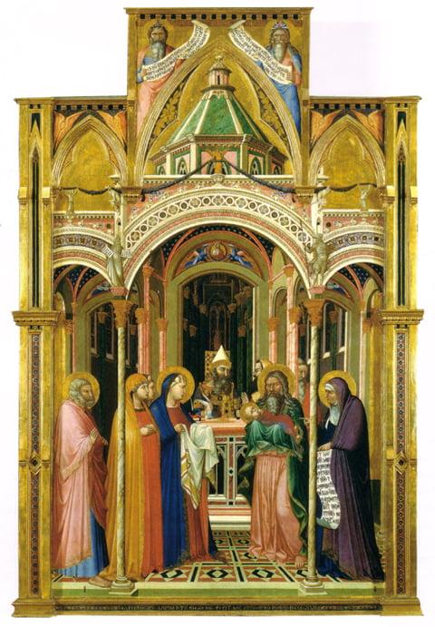 Autor Ambrogio Lorenzetti, Fecha: 1342 Tecnica: Temple sobre metal en tabla. Dimensiones 257×168 cm