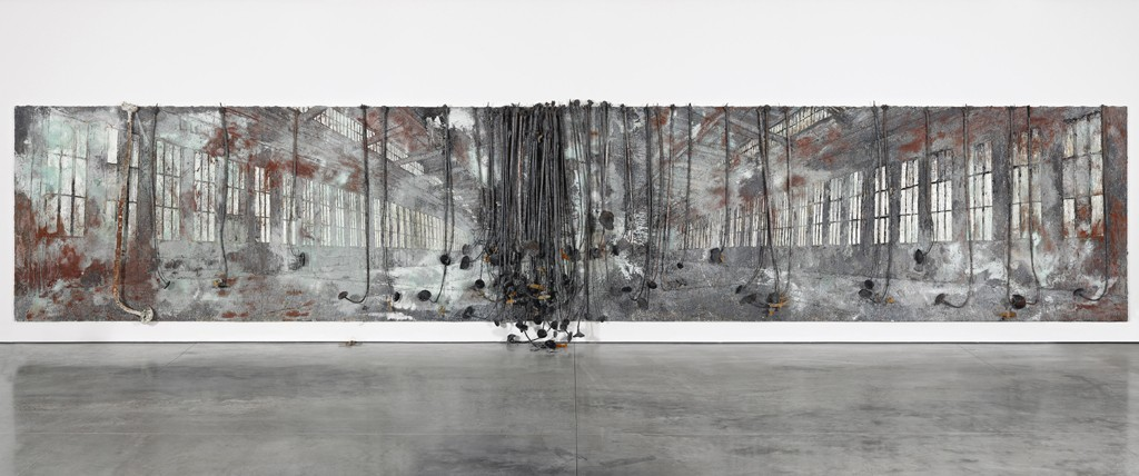 Anselm Kiefer Dat rosa miel apibus 2010-11 Oil, acrylic, terracotta, salt, lead and resin on canvas 129 15:16 x 673 1:4 in. (330 x 1710 cm) © the artist Photo- Ben Westoby Cou