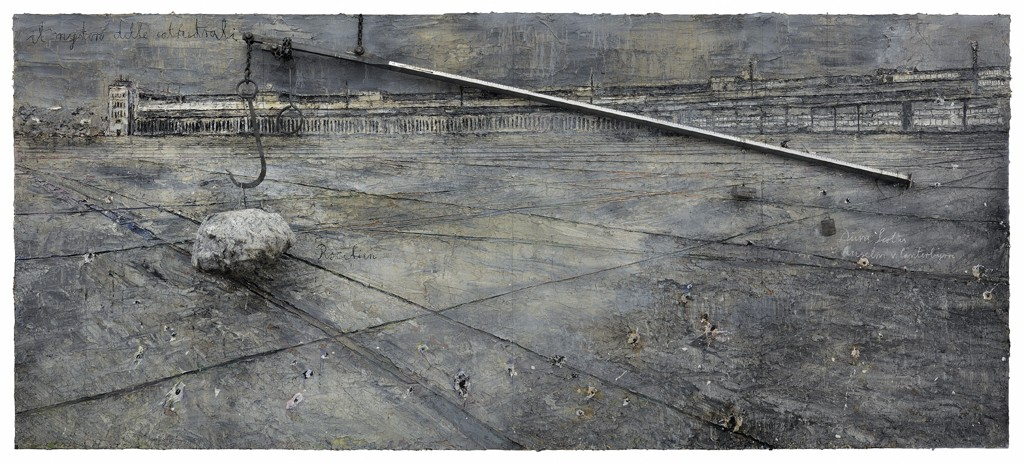 Anselm Kiefer Dat rosa miel apibus 2010-11 Oil, acrylic, terracotta, salt, lead and resin on canvas 129 15:16 x 673 1:4 in. (330 x 1710 cm) © the artist Photo- Ben Westoby Courtesy White Cube