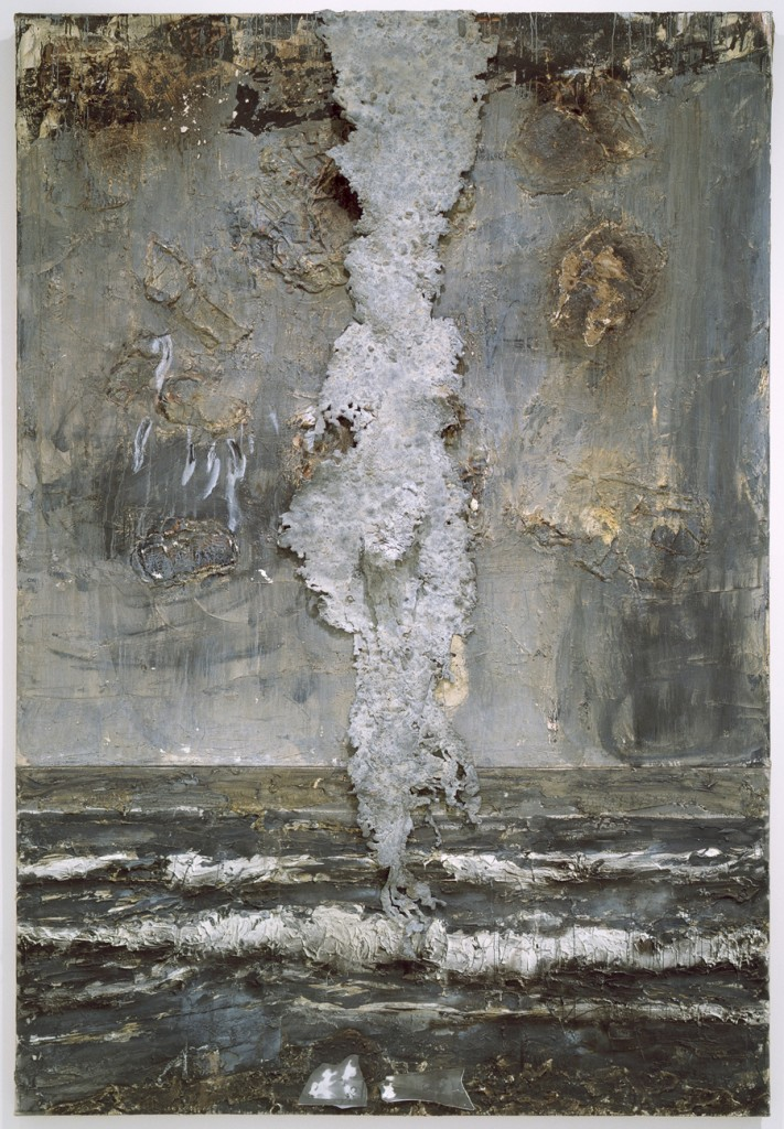 Emanation Date- 1984-1986. Medium- oil, acrylic, wallpaper paste, lead on canvas