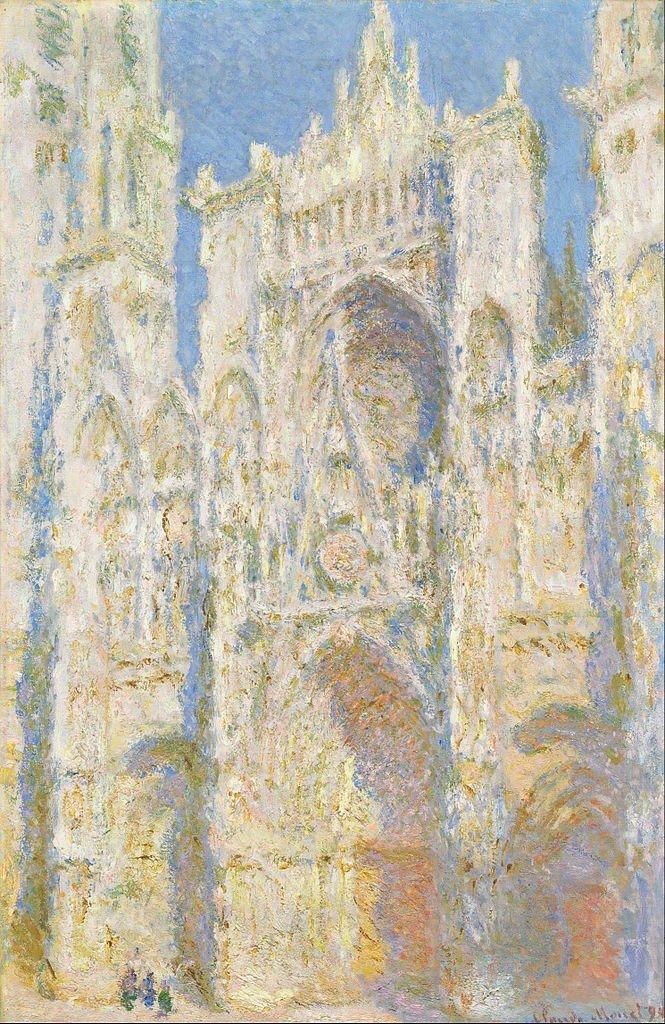 665px-Claude_Monet_-_Rouen_Cathedral,_West_Façade,_Sunlight_-_Google_Art_Project
