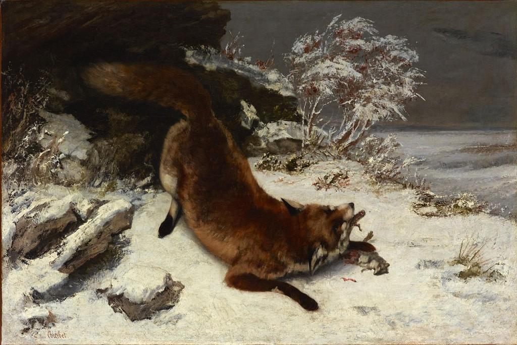 Fox_In_The_Snow_-_Courbet_(1860)