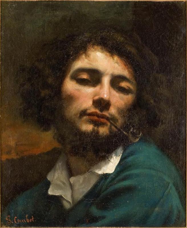 Courbet_Autoportrait L'homme à la pipe (Self-portrait, Man with a pipe), 1848–49, Musée Fabre, Montpellier