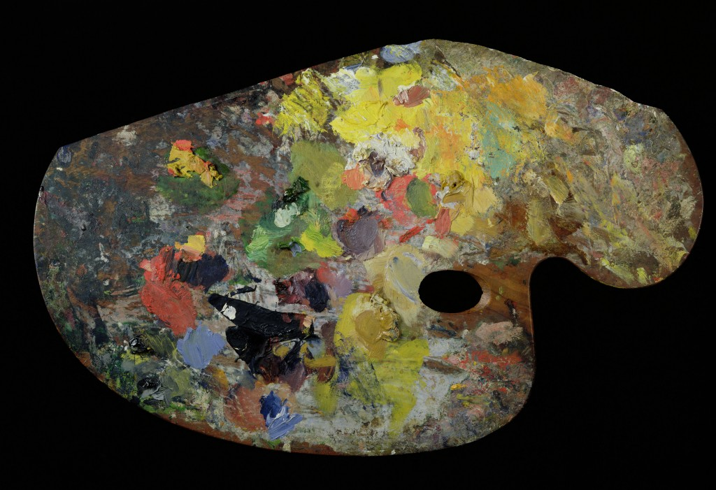MMT182029 Credit: Monet's palette (wood) by French School (19th century) Musee Marmottan Monet, Paris, France/ Giraudon/ The Bridgeman Art Library Nationality / copyright status: French / out of copyright