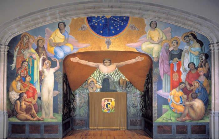 Diego Rivera. Creation. / La creación. 1922-3, Encausto sobre muro.