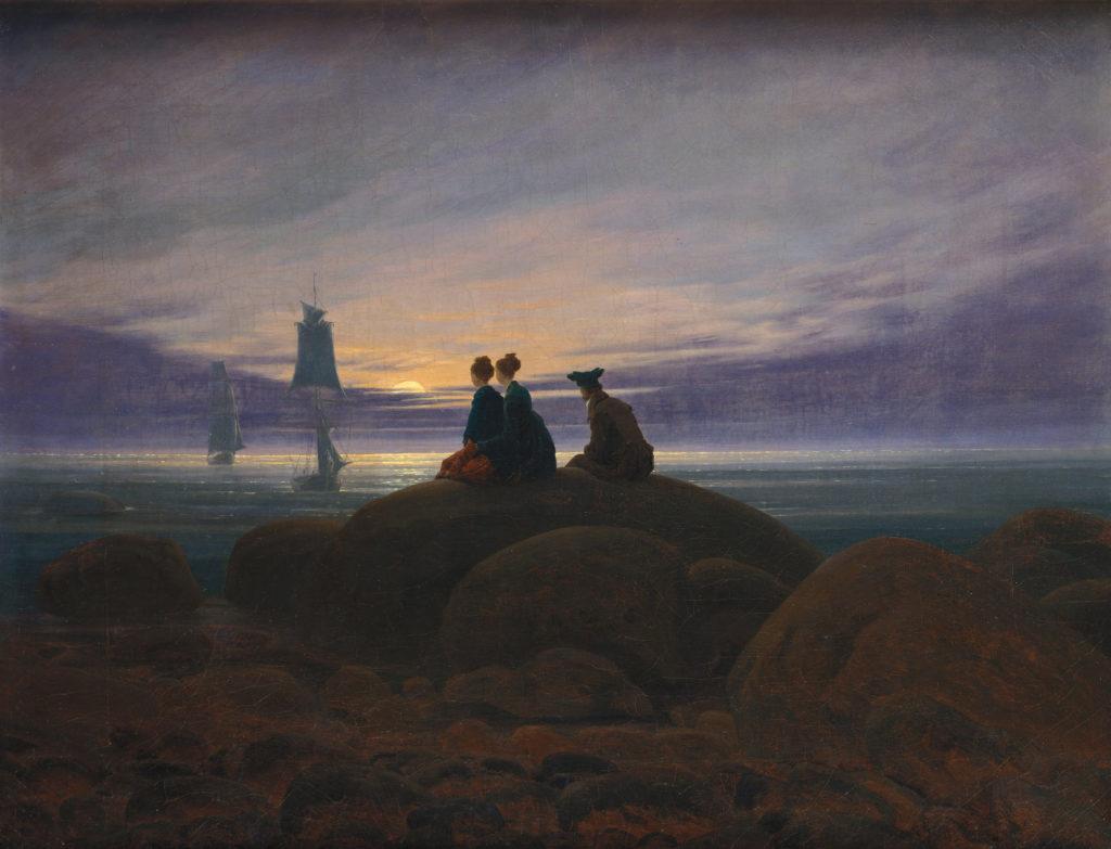 Caspar David Friedrich, Moonrise over the Sea (Mondaufgang am Meer), 1822, Alte Nationalgalerie, Berlin
