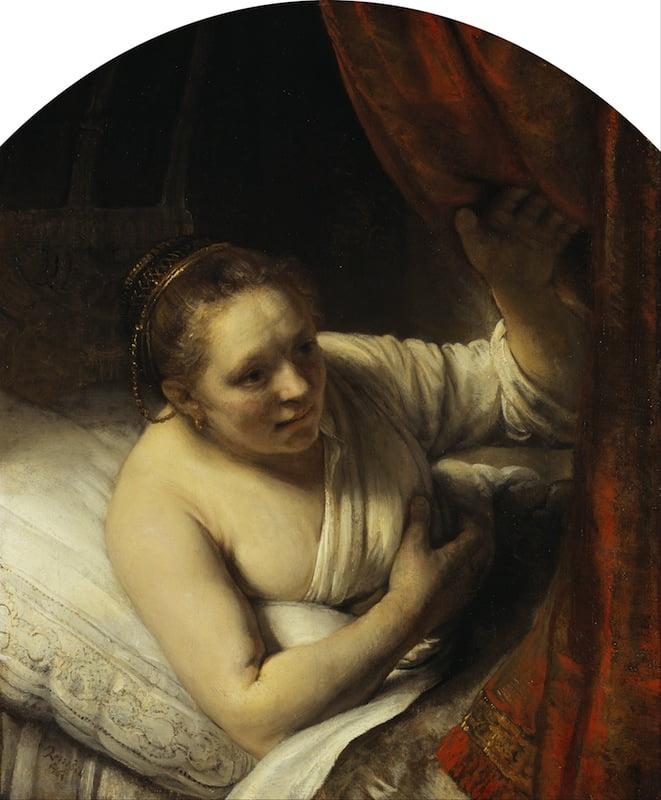 'A Woman in Bed', c. 1645–46, Rembrandt van Rijn (1606–69). Scottish n National Gallery, Edinburgh