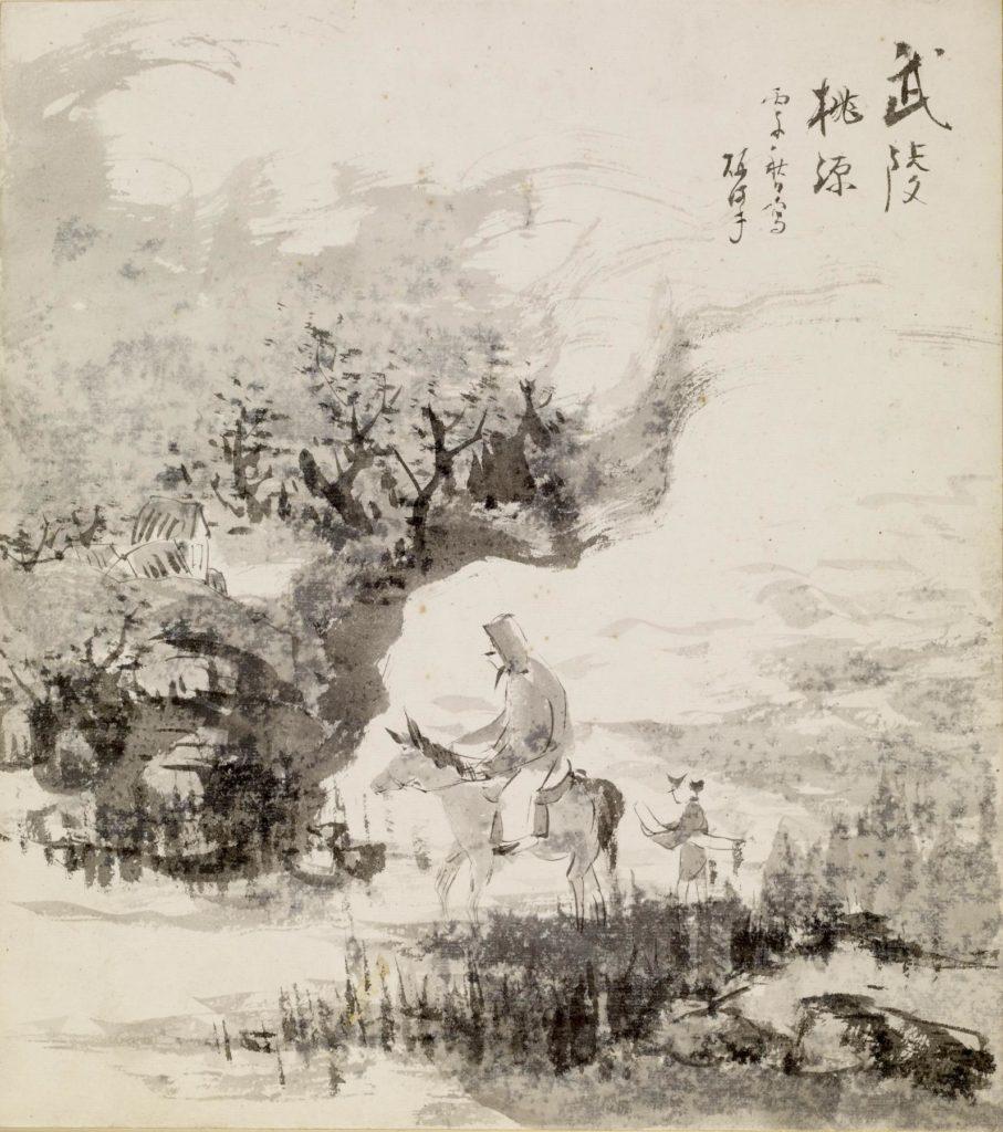 Japanese_-_Mounted_Figure_in_Landscape_-_Walters_35170
