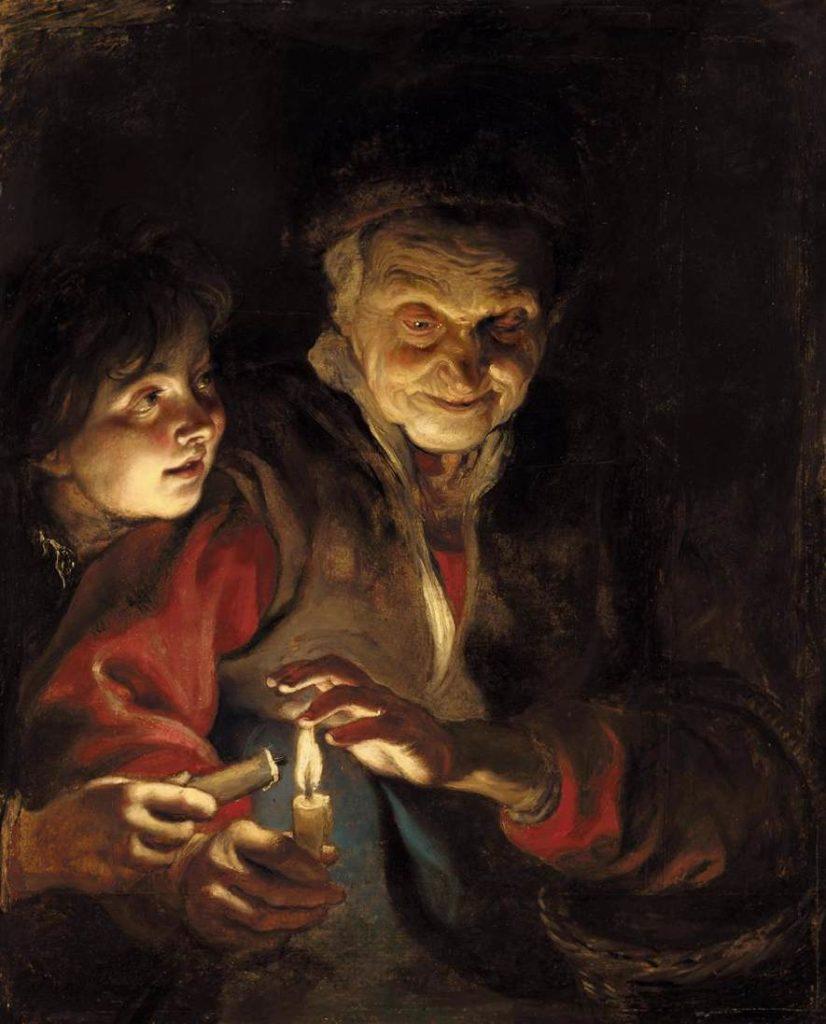 night-scene-1617 Night Scene - Rubens Peter Paul