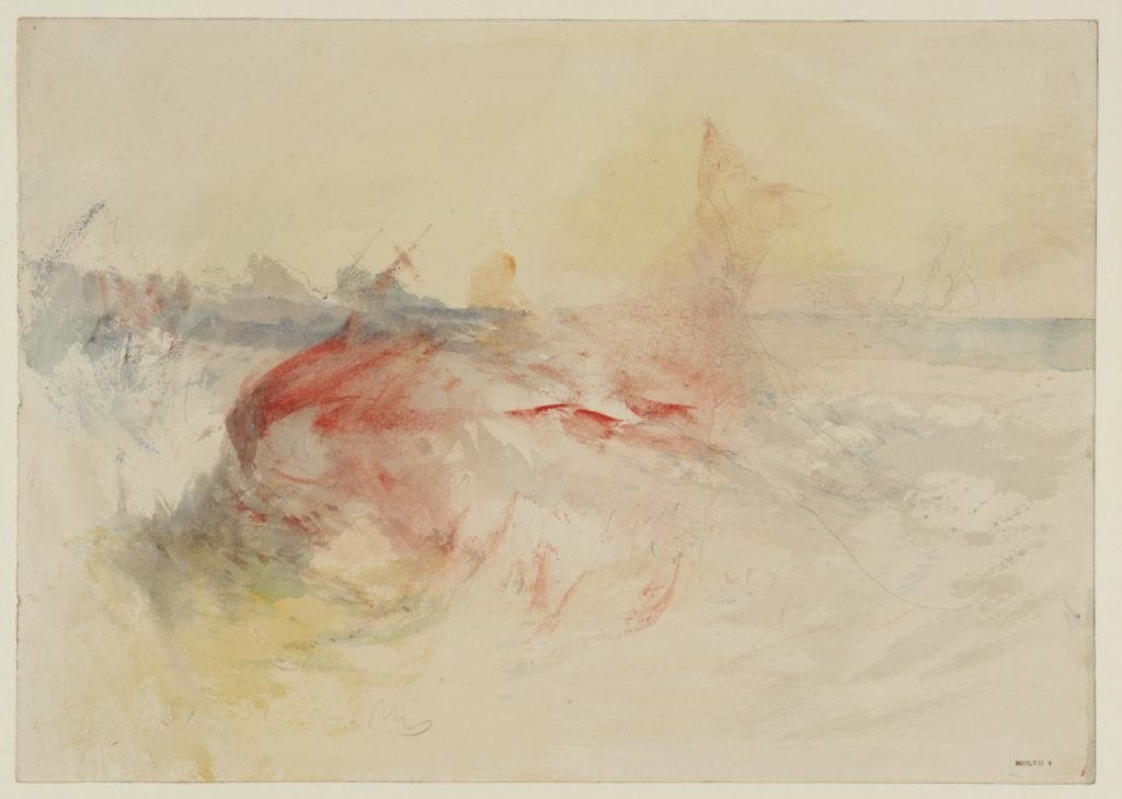 A Harpooned Whale 1845 Joseph Mallord William Turner 1775-1851 Accepted by the nation as part of the Turner Bequest 1856 http://www.tate.org.uk/art/work/D35391