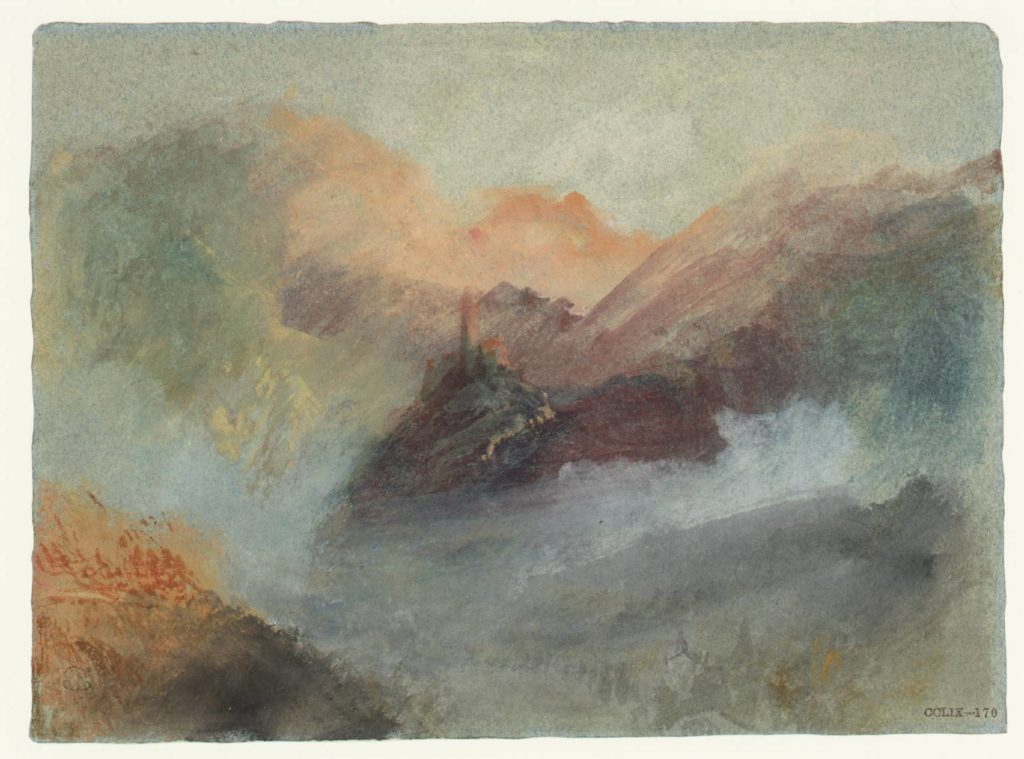 Burg Treis circa 1839 Joseph Mallord William Turner 1775-1851 Accepted by the nation as part of the Turner Bequest 1856 http://www.tate.org.uk/art/work/D24735