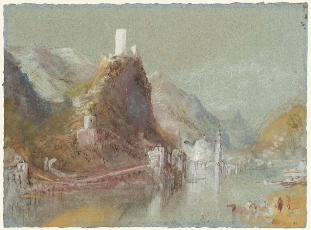 Cochem from the South circa 1839 Joseph Mallord William Turner 1775-1851 Accepted by the nation as part of the Turner Bequest 1856 http://www.tate.org.uk/art/work/D28986