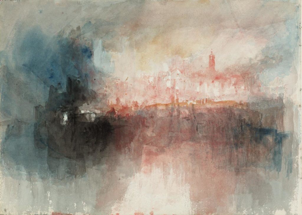 Fire at the Grand Storehouse of the Tower of London 1841 Joseph Mallord William Turner 1775-1851 Accepted by the nation as part of the Turner Bequest 1856 http://www.tate.org.uk/art/work/D27847