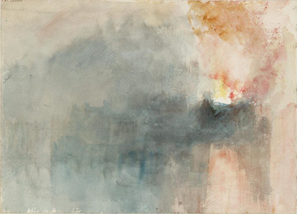 Fire at the Grand Storehouse of the Tower of London 1841 Joseph Mallord William Turner 1775-1851 Accepted by the nation as part of the Turner Bequest 1856 http://www.tate.org.uk/art/work/D27848
