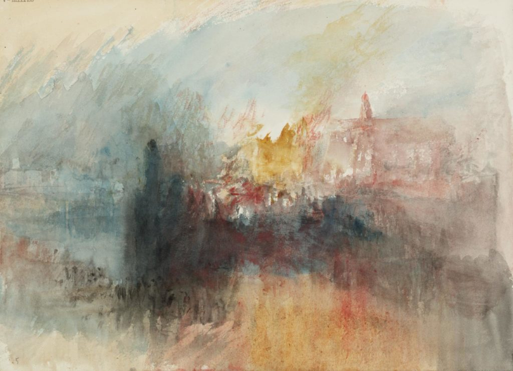 Fire at the Grand Storehouse of the Tower of London 1841 Joseph Mallord William Turner 1775-1851 Accepted by the nation as part of the Turner Bequest 1856 http://www.tate.org.uk/art/work/D27850