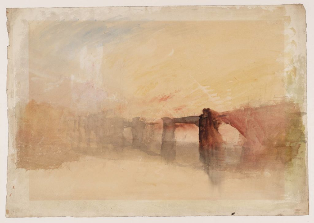 ?Rochester Castle and Bridge circa 1830 Joseph Mallord William Turner 1775-1851 Accepted by the nation as part of the Turner Bequest 1856 http://www.tate.org.uk/art/work/D25474